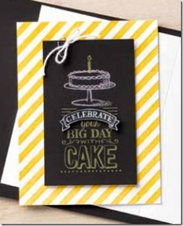 Big Day birthday cake card from Sale-a-Bration