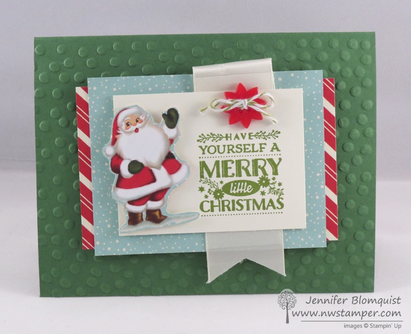 Vintage Santa Cozy Christmas Card  Northwest Stamper