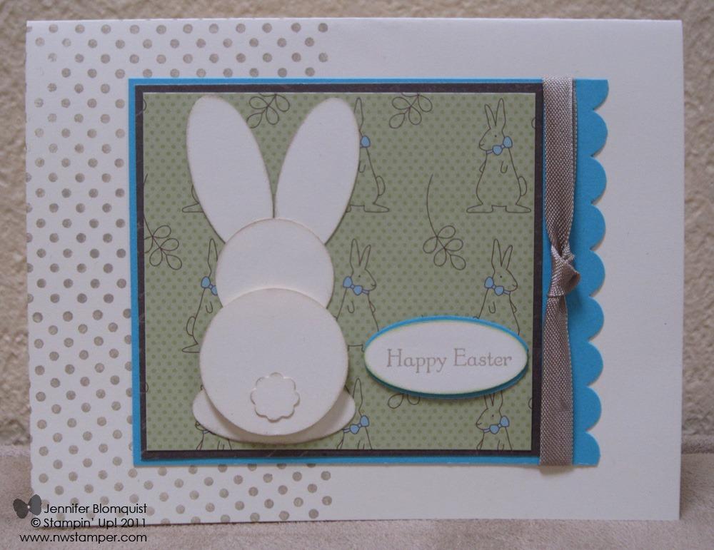 Easter Bunny Punch Art Card - Northwest Stamper