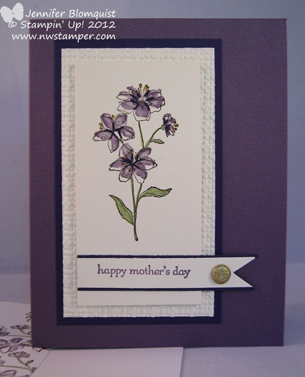 Simply soft elegant mother s day card northwest stamper for Classy mothers day cards