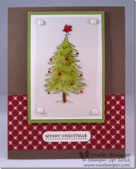 Christmas card with the stained glass technique