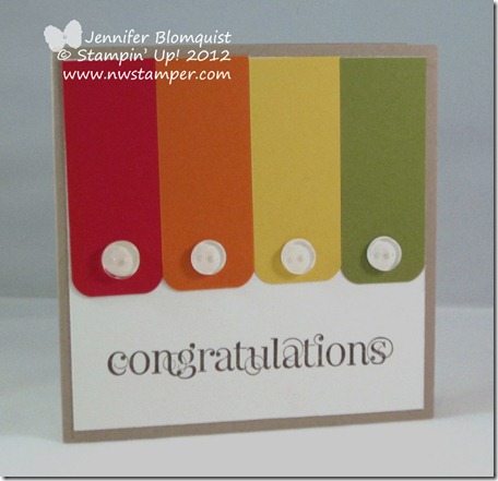 Stampin Up BITTY BUTTONS Embellishments clear