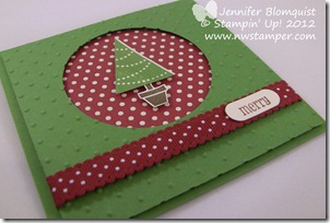Pennant Parade Christmas Tree card