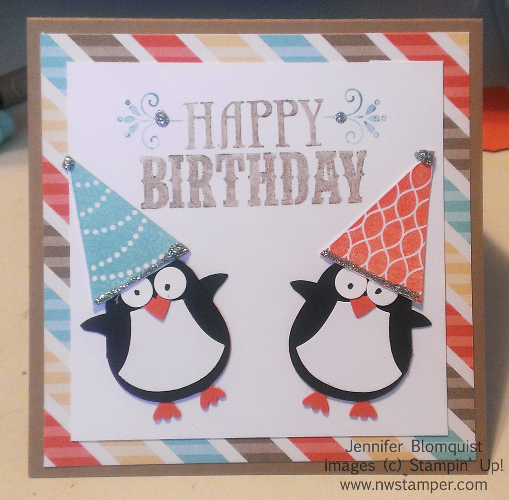 it's birthday time a penguin punch art birthday card  giveaway, Birthday card