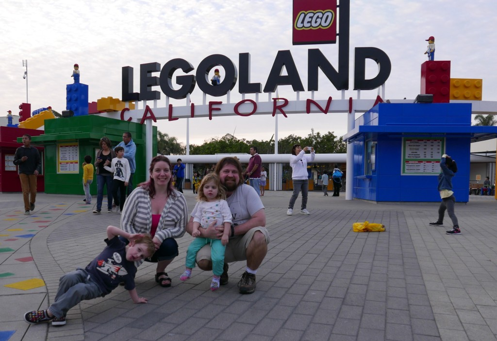 family at legoland