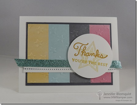 Sunburst Sayings with Embossed Perfectly Artistic paper Thank You- nt