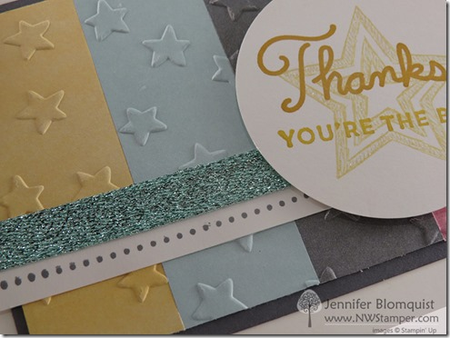 Sunburst Sayings with Embossed Perfectly Artistic paper close up