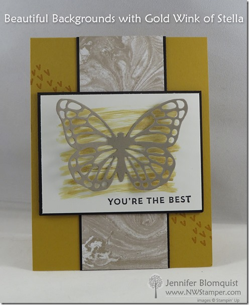 Sunburst sayings with perfectly artistic butterfly card and wink of stella