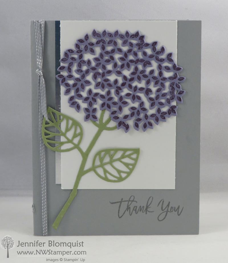 Thoughtful Branches Hydrangea Card in Silver nt