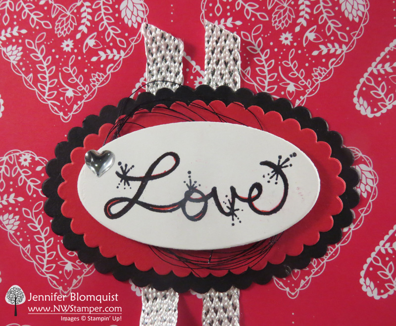 Love Sparkles Valentines Day Card close up