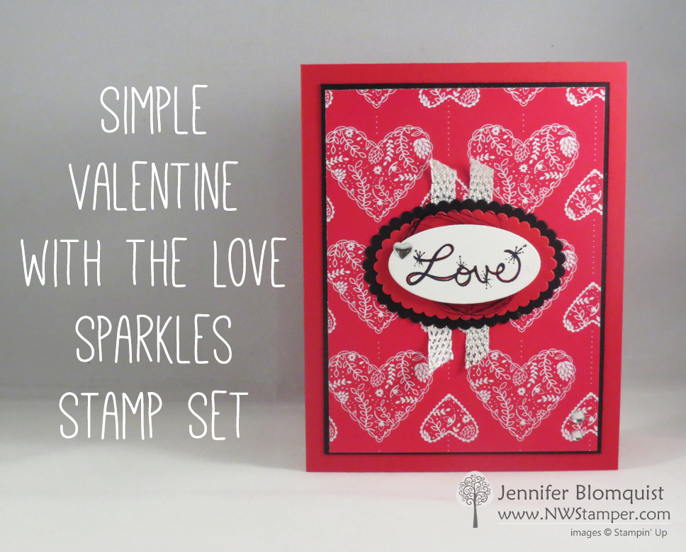 Love Sparkles Valentines Day Card