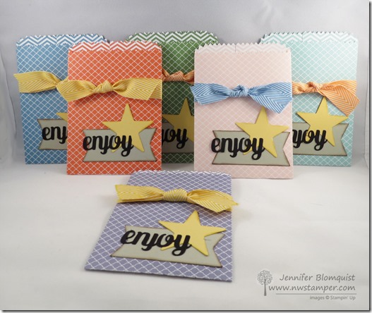 Perfect Party Favors using the Mini Treat Bag Die