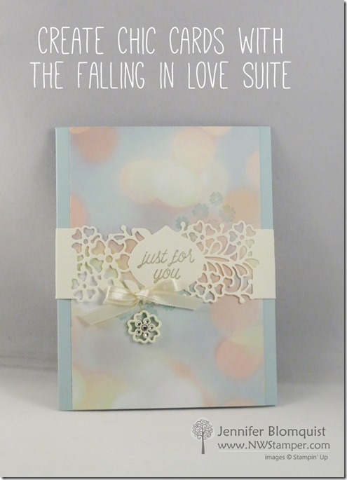 Stampin up So In Love card with So Detailed band
