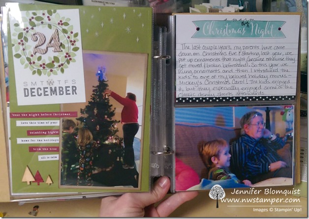 December Daily 2014 stampin up christmas scrapbook inside 2