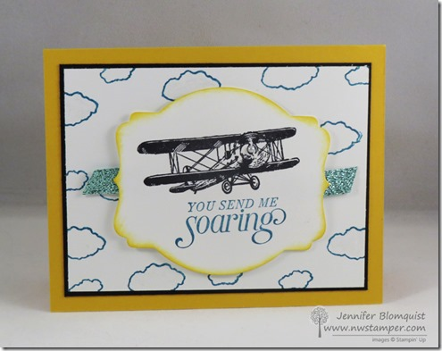 Sky is the Limit stampin up card
