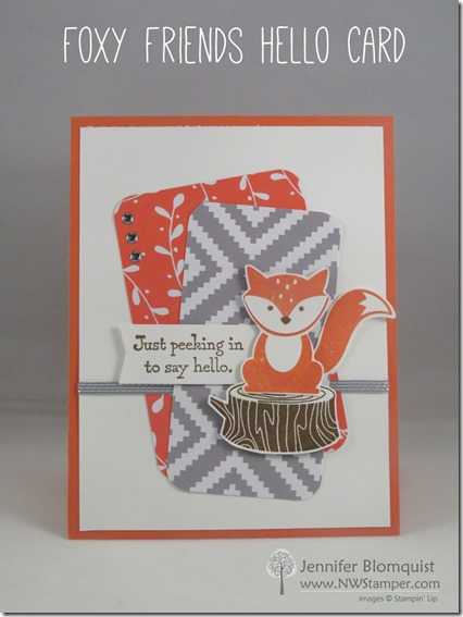 Foxy Friends Card from Mojo Monday sketch 465 by Jennifer Blomquist