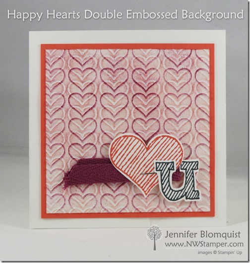 happy hearts double embossed background