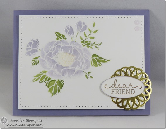 Watercolored Birthday Blooms by stampin up