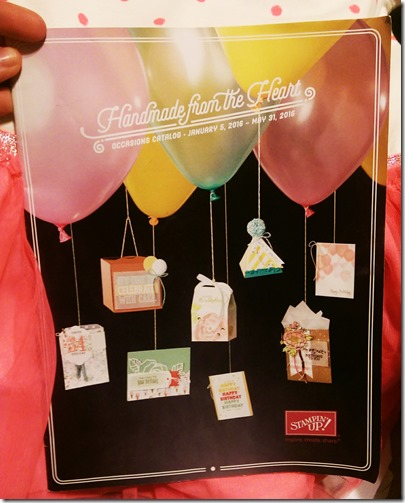 2016 Stampin Up occasions catalog cover