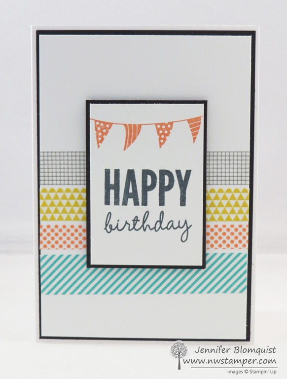 Fun with Washi Sheets a birthday card and NEW CLASS by MAIL – Birthday Card Mail