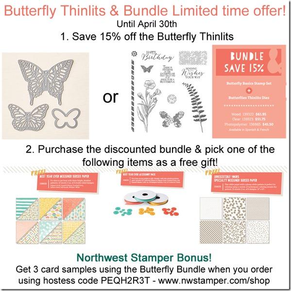 Buttefly Basics April 2015 promotion