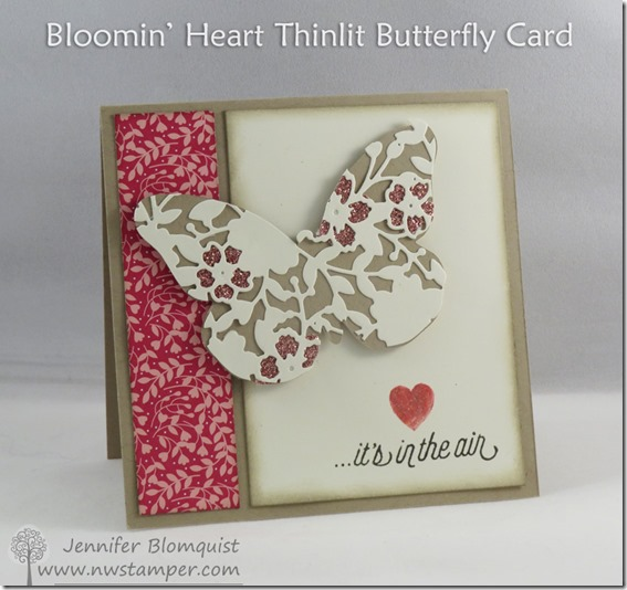 Bloomin' Heart Thinlit Butterfly Card