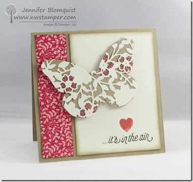 beautiful bloomin heart butterfly card
