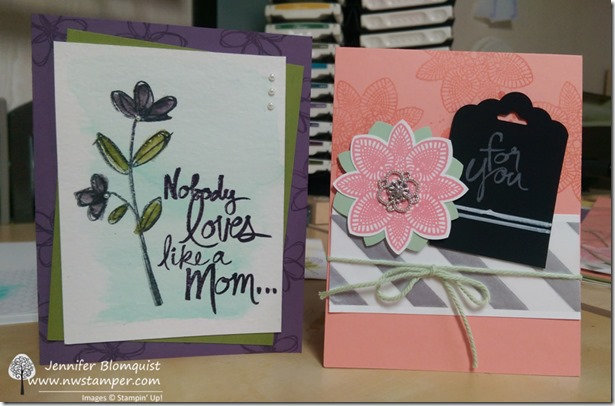 April Stamp Club projects with Watercolored Mothers Love and Petal Potpourri